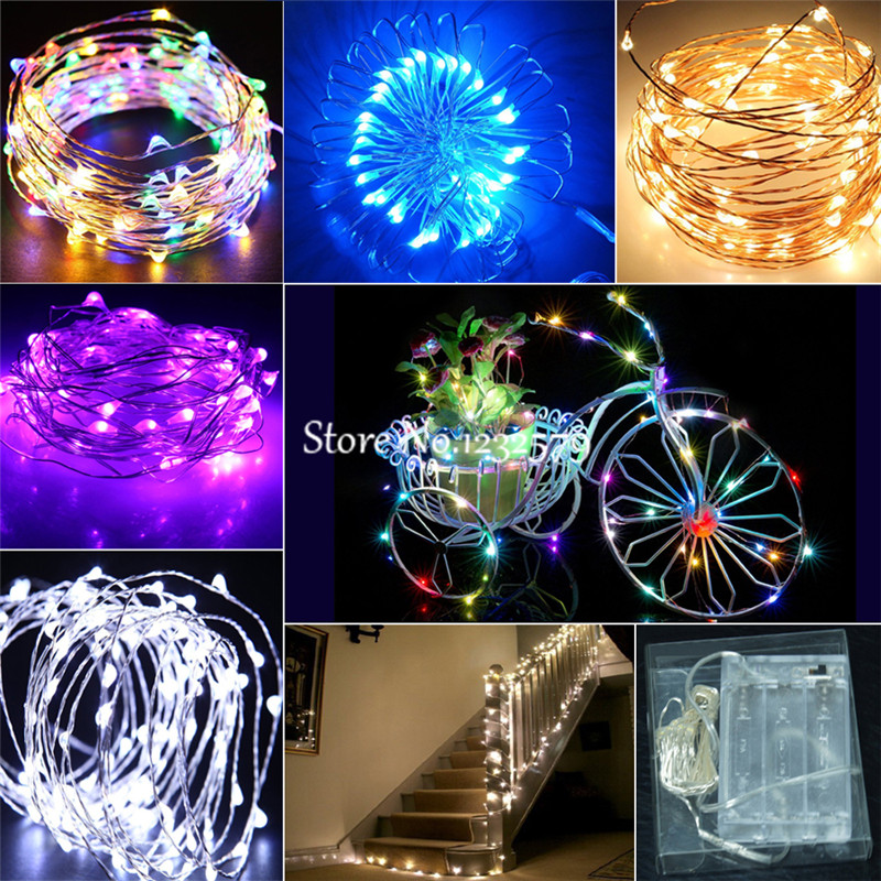 40 LEDs Battery Operated Mini LED Copper Wire String Fairy Lights 2M//3M//4M