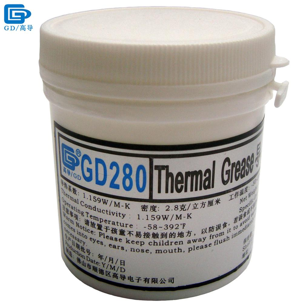 GD280 Thermal Conductive Grease Paste Silicone Plaster Heatsink Compound Net Weight 150 Grams Bottle Packing White For LED CN150 20g grey for cpu vga gpu silicone thermal grease paste compound conductive plaster heatsink led chipset cooling pc components