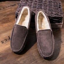 Замшевые Кожаные лёгкие кожаные туфли типа мокасин мужская повседневная обувь водонепроницаемые Мокасины Hombre обувь зимние мужские кроссовки без шнуровки обувь для взрослых Роскошная