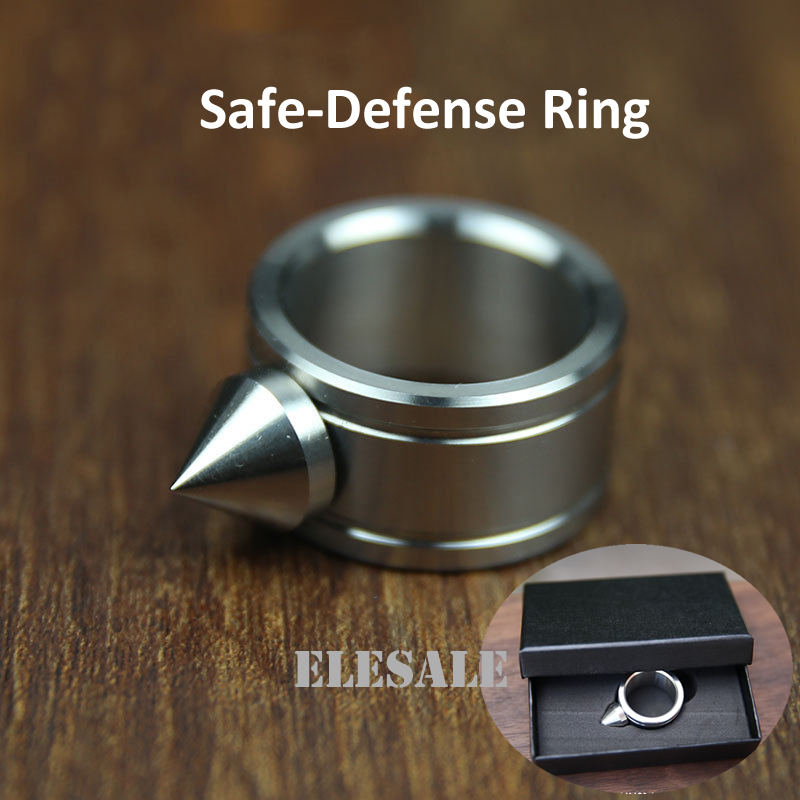 High Quality Stainless Steel Self Defense Ring For Women Men Safety Outdoor Survial Kit Self-defense Weapon Glass Breaker Gift 1pcs women men safety survival ring tool edc self defence stainless steel ring finger defense ring tool silver gold black color