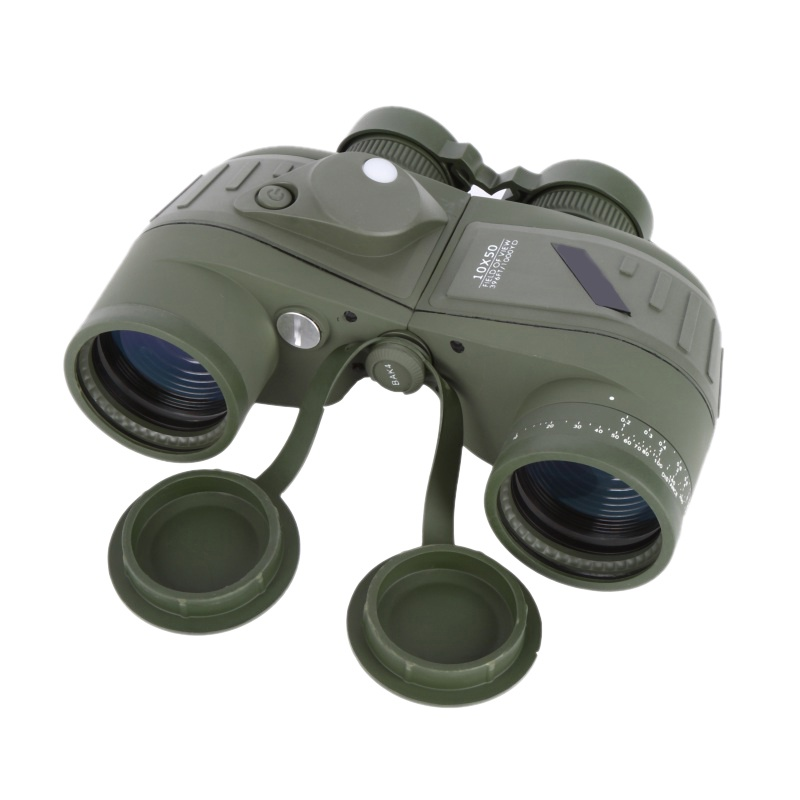 10x50 Waterproof Navy Telescope Fogproof HD Binoculars with rangefinder Compass Reticle Illuminant Night Vision Hunting Hot стоимость