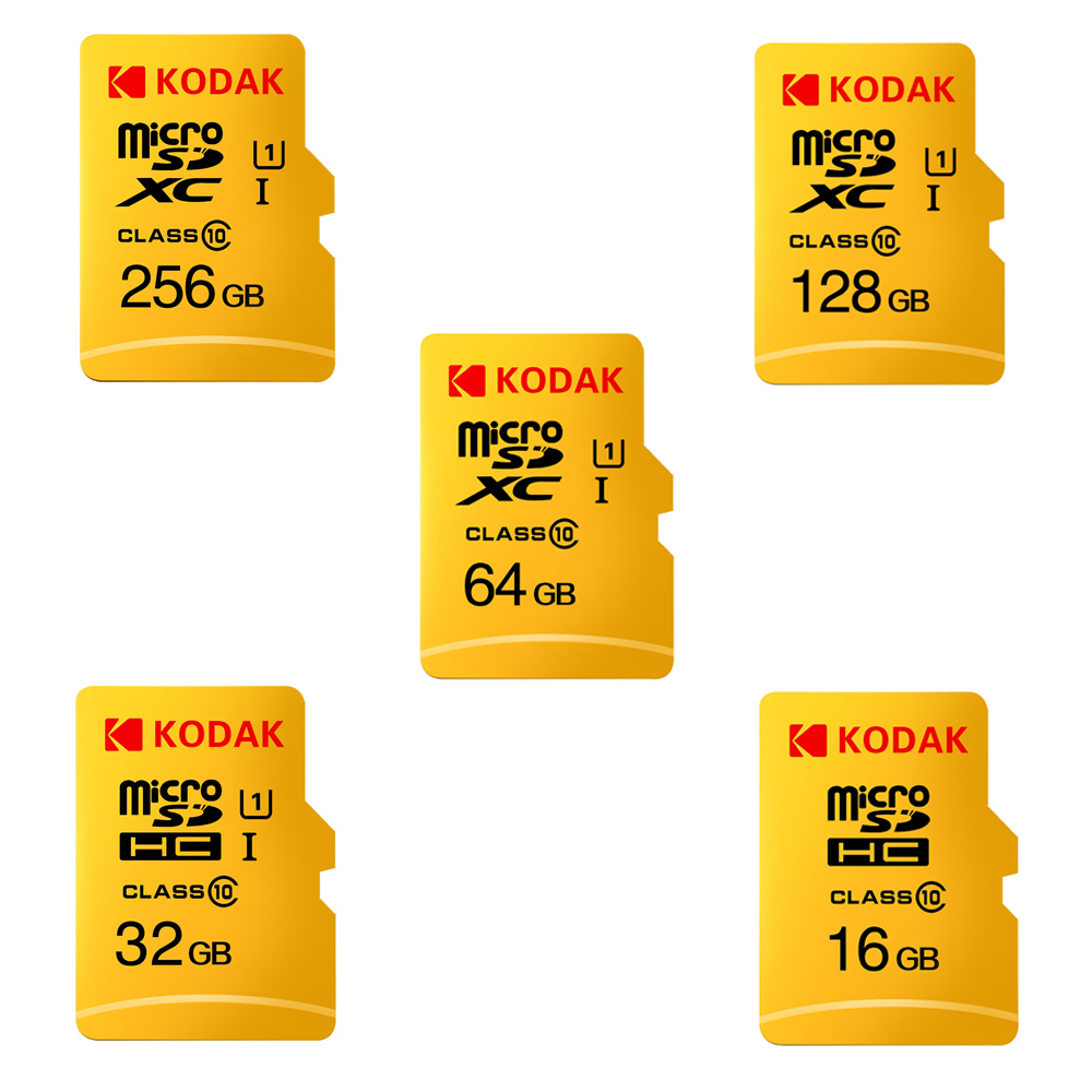 Kodak Micro SD Card 16GB 32GB 64GB 128GB TF Card Class10 C10 U1 80MB/s Memory Card Fast Speed