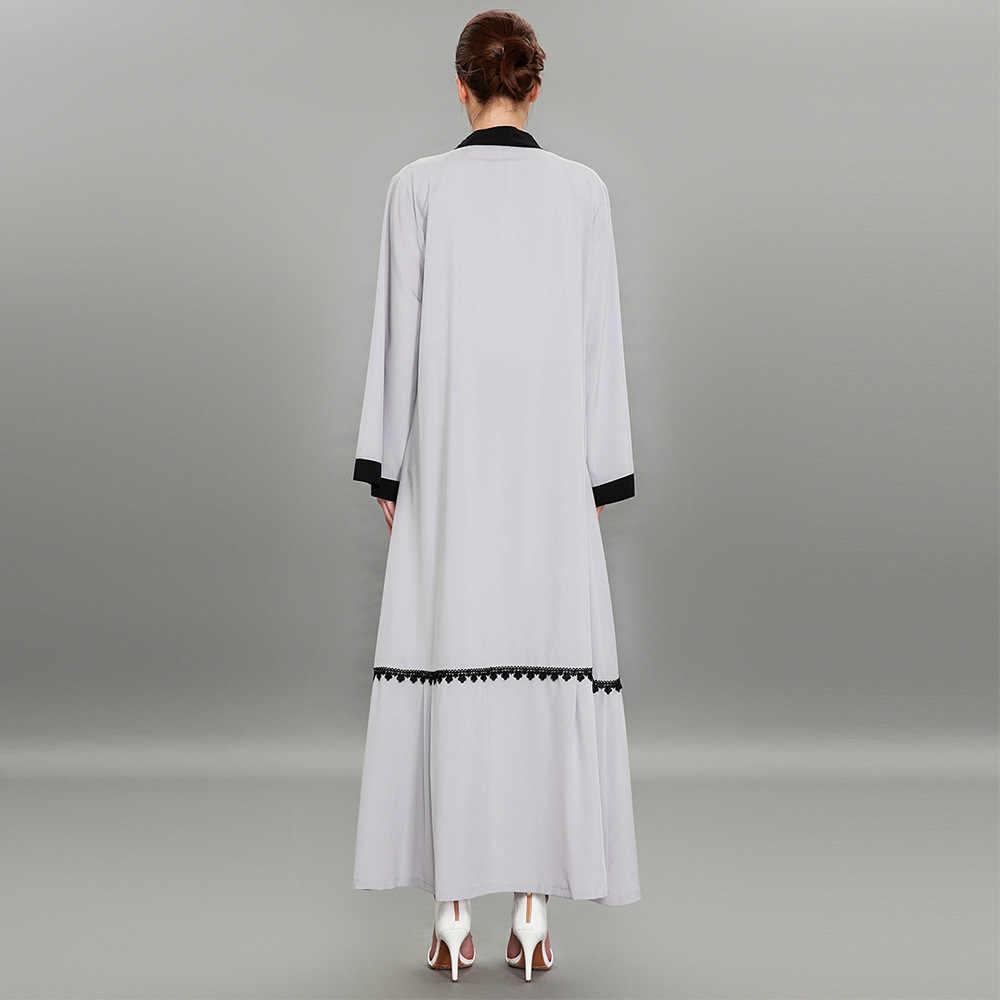 Турецкий платья вышивка кардиган Дубай серый абайя кимоно мусульманские Длинные платья большие размеры Макси верхняя одежда с поясом 1584