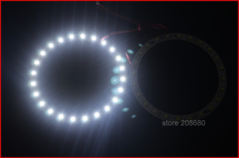 2pcs x 100mm Angel Eyes headlight accent light 24 SMD LED Ring Car Light 3 color option 2013 Free Shipping JJJ free shipping fit for all car angel eyes headlight 36leds 5050smd 100mm dia rgb smd ring angel eye led 12v