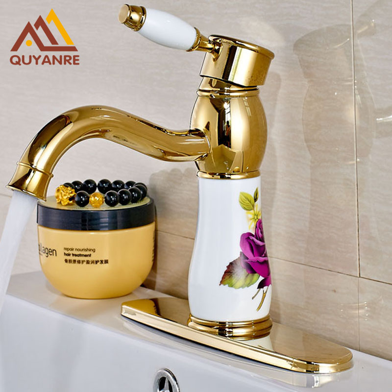 Fashion Style Basin Bathroom Faucet Deck Mounted with 6 ...