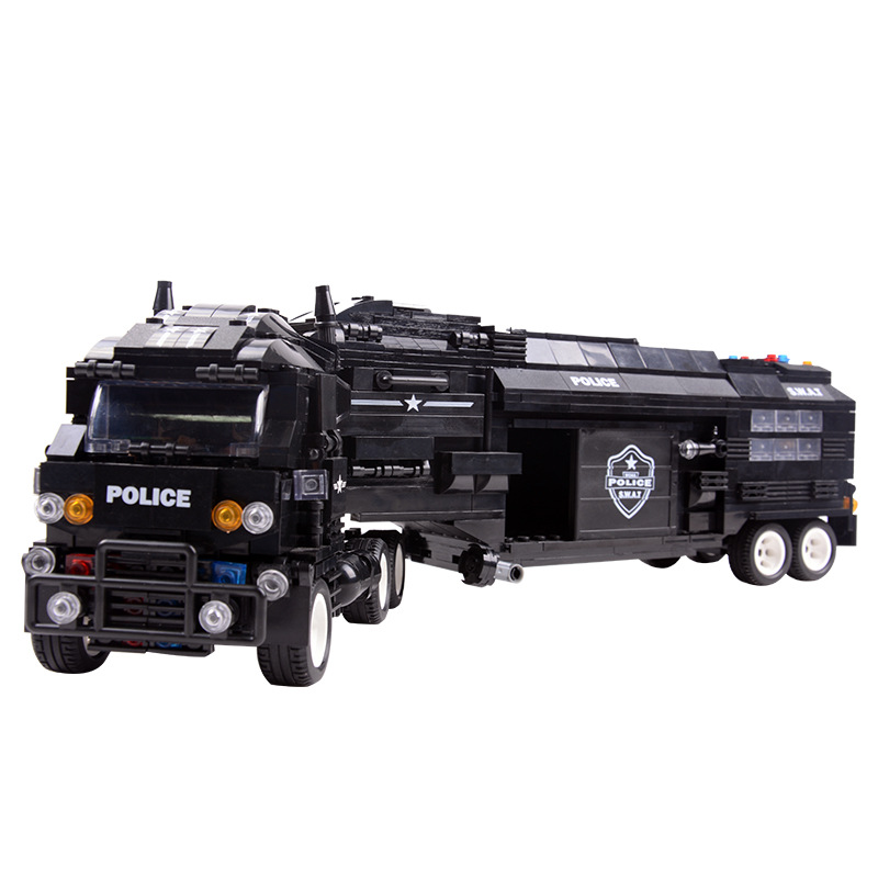 Hot Sale Large Special Police Military Station Truck City Swat Boys Toys Education legoing Models Building Toy Blocks Set bohs building blocks city police station coastal guard swat truck motorcycle learning