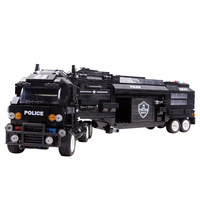 Hot Sale Large Special Police Military Station Truck City Swat Boys Toys Education Lepins Models Building