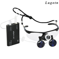 3.5X magnification antifog medical enlarger lens surgery surgical magnifier with LED light oral dental headlight operation loupe