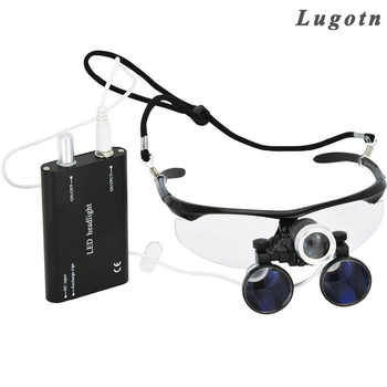 3.5X magnification antifog medical enlarger lens surgery surgical magnifier with LED light oral dental headlight operation loupe - DISCOUNT ITEM  5% OFF All Category