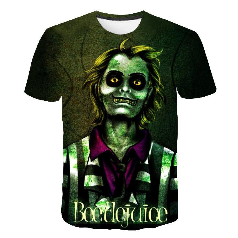 Funny Gothic Horror Skull 3D T Shirt Summer Brand Hipster Tee Men/Women Anime Short Sleeve Casual Breathable Trendy Halloween