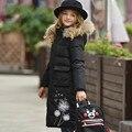 High-end da moda casacos quentes das meninas