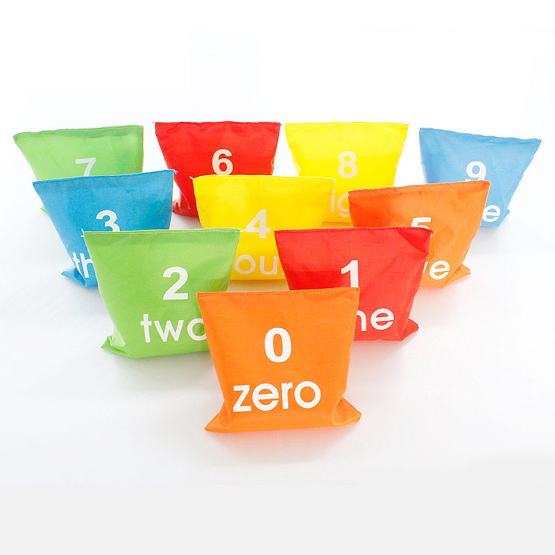 1pcs Square Sandbag Number Kids Game Outdoor Throwing Traning Swnsory Toys Early Learning Outdoor Toys For Children Match Toy D4