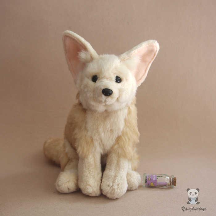 Silver Fox Stuffed Animal, Plush Toys Simulation Animal Foxes Doll Children S Toy Gift Big Ears Silver Fox Good Quality Stuffed Plush Animals Aliexpress