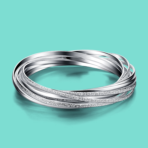 925 sterling silver bracelet for woman Frosted surface design charm bracelet lady popular Silver jewelry Solid silver bracelet