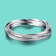 925 sterling silver bracelet for woman Frosted surface design charm bracelet lady popular Silver jewelry Solid silver bracelet