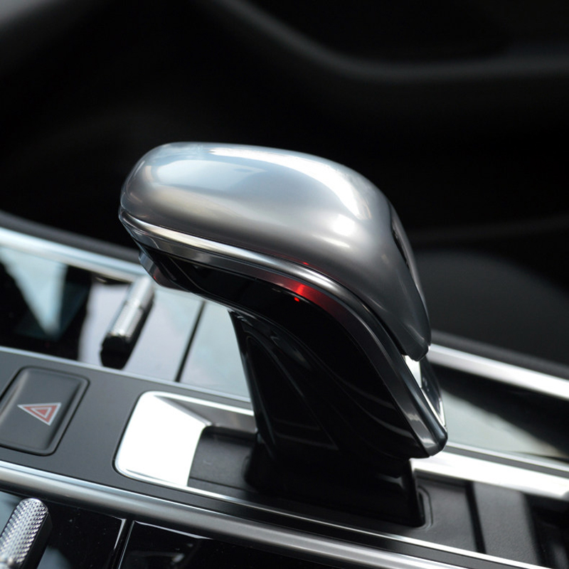 For Porsche Panamera 971 2017-2018 Auto Car Accessories Gear Head Shift Knob Cover Gear Shift Collars Handbrake Grip 1pcs gear shift
