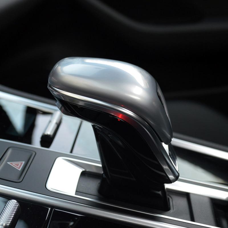 For Porsche Panamera 971 2017-2018 Auto Car Accessories Gear Head Shift Knob Cover Gear Shift Collars Handbrake Grip 1pcs cool skull style resin car gear shift knob blue