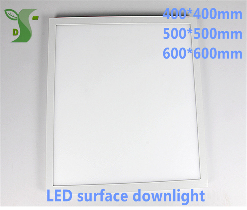 10pcs/lot 32W 36W 48W led round/square panel light 400*400mm 500*500mm 600*600mm surface down light AC85-265V with drier цена