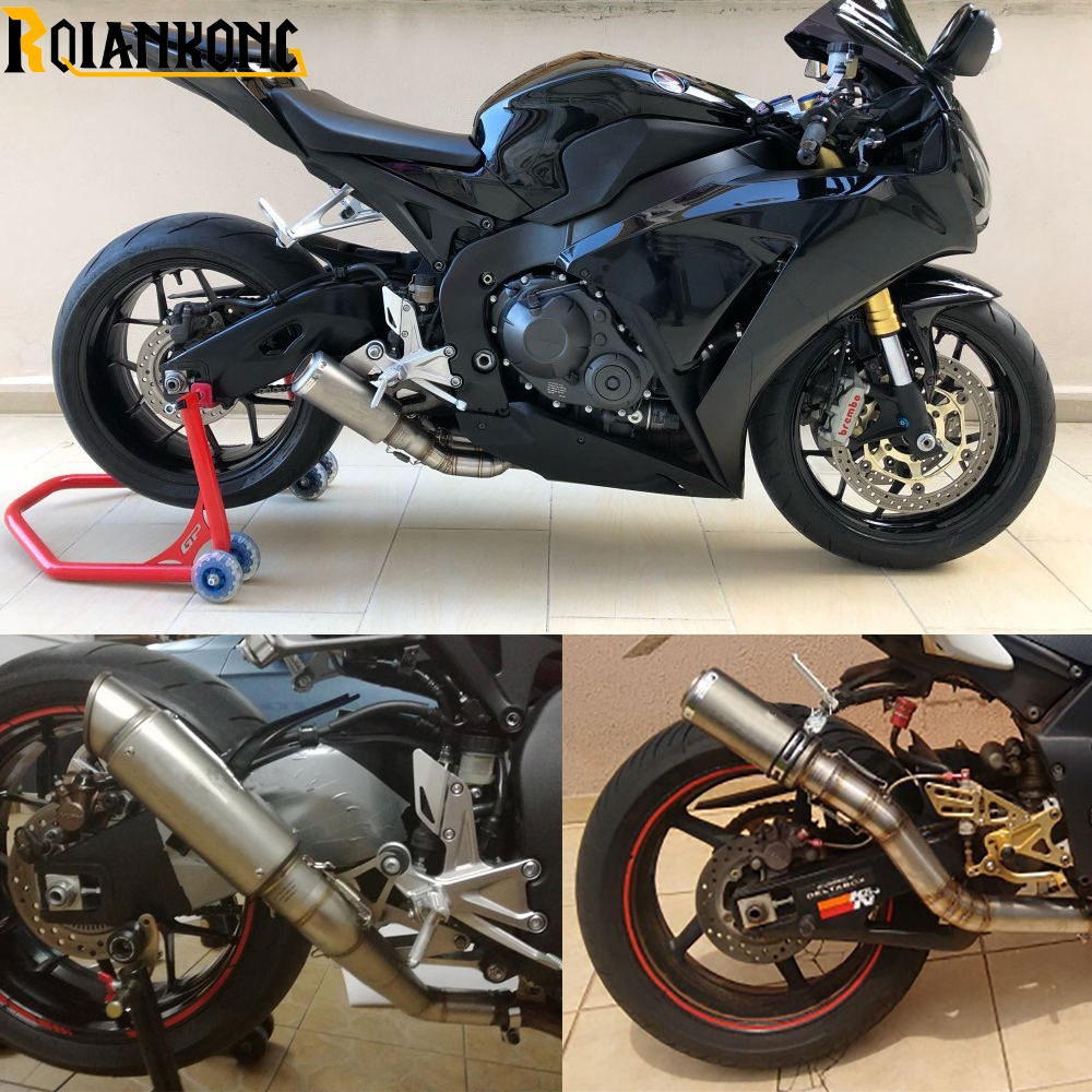 Laser Mark Motorcycle Exhaust Escape Muffler Pipe Carbon Fiber For