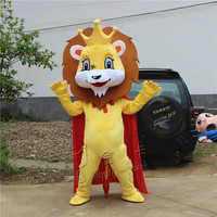 Animal Lion King Simba Mascot Costume Custom Fancy Outfit Anime Cosplay Kits Mascotte Theme Fancy Dress Carnival Costume