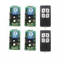 DC12V 1CH 10A wireless remote control switch system teleswitch 2X Transmitter + 2X Receiver relay smart house z wave