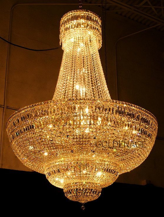 Free Shipping Traditional Crystal Pendant Lamp Gold Empire