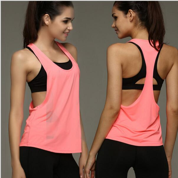 3af60afed60 MOGEBIKE Hot Sexy Female Loose Sports Shirts Solid Fitness Vest Gym Women  Yoga Clothes Running Top Breathable Lady Cycling Vest