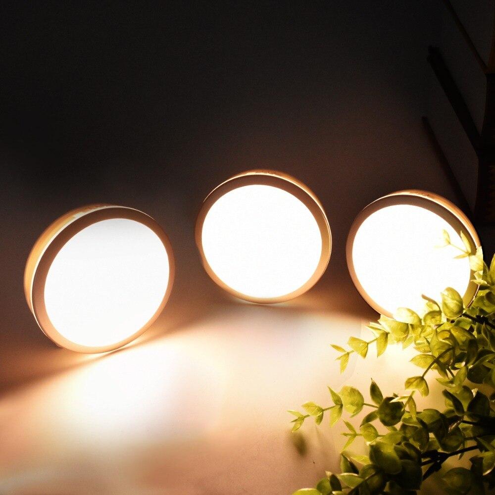 Rechargeable Motion Sensor LED Night Light Bathroom Lamp Staircase Bulb Infrared PIR Aisle Lights Home Lighting usb rechargeable touch sensor led cartoon birdcage night light