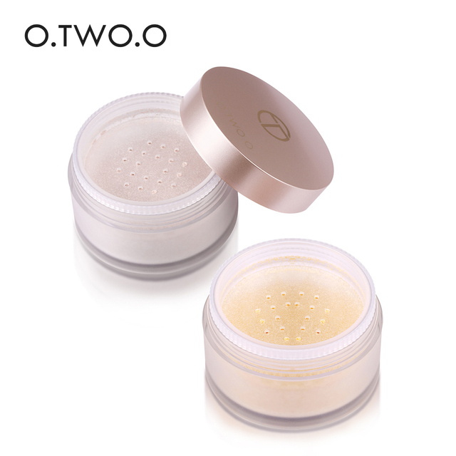 O.TWO.O Smooth Loose Powder Matt Makeup Transparent Finishing Powder Waterproof Cosmetic Puff For Face Finish Setting With Puff 4