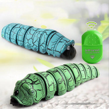 Remote Control Worm Insect Infrared Reptile Caterpillar Electric Tidy Funny Childrens Toy Holiday Gift