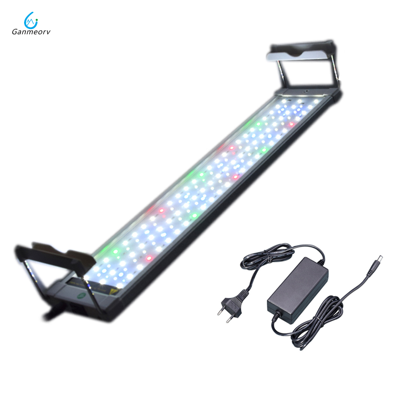 50 75cm 18W colorful Aquarium LED Lighting Light Lamp with Extendable Brackets 90 LEDs Fits for