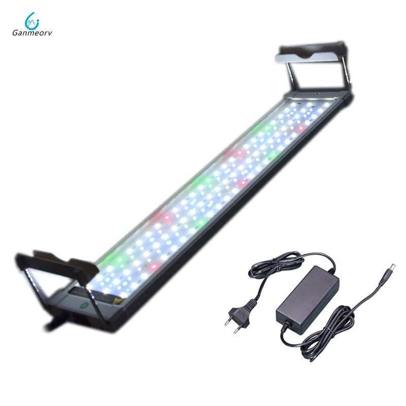 50 ~ 75 cm 18 W coloré LED pour Aquarium lampe d'éclairage avec supports extensibles 90 LED s convient pour Aquarium Aquarium Aquarium