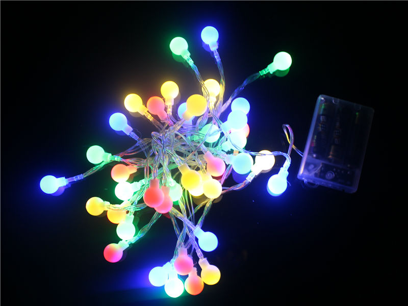 Portable Led string 4M 28 ball Warm White Battery Powered Fairy String Lights Lamps for Christmas Holiday Wedding Party Outdoor