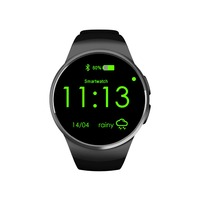 EnohpLX KW18 Smartwatch NFC Heart Rate Monitor Smart Watch For Apple Samsung Android Pedometer health full round MTK2502C