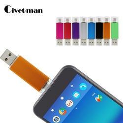 Новый смартфон планшетный ПК USB Флешка 32 ГБ флешки 16 ГБ Гб двойной накопитель ГБ 8 Гб OTG Внешний USB Stick 64 ГБ Memory Stick