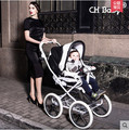 Free shipping high quality luxury pram CH baby leather baby stroller baby child carriage &  pushchair 2 in 1 with carrycot