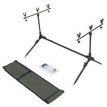 Telescopic Adjustable Sea Fishing  Metal Tripod Holder Stand Bracket + Y Shape Joint for 3 Fishing Rod + Carry Bag RU Warehouse