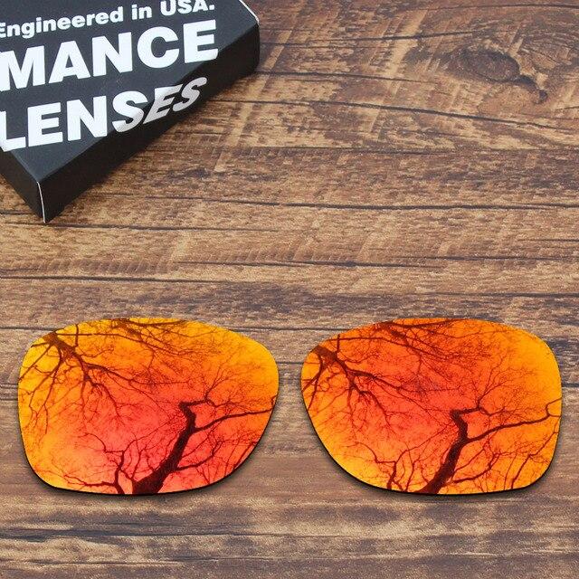 החלפת ToughAsNails מקוטב משקפי שמש עדשות עבור אוקלי זרז אש צבע אדום שיקוף (עדשה בלבד)