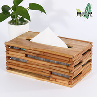 Living room home creative paper pumping box home solid wood Chinese tissue boxRoll paper box(A163)