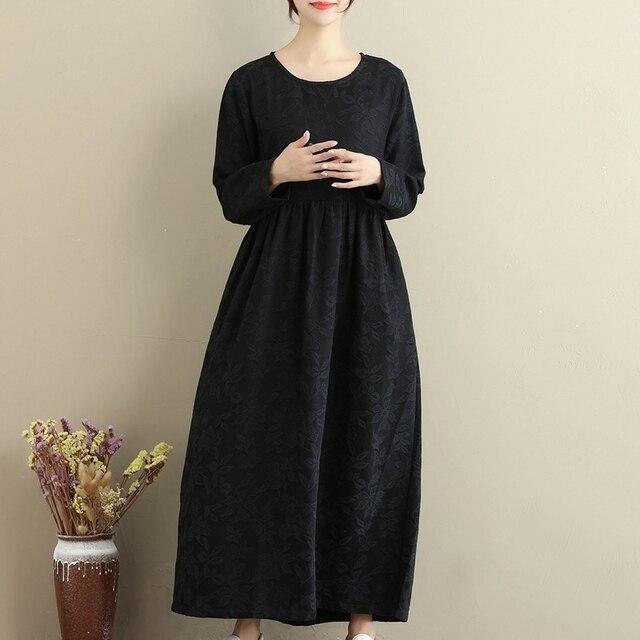 Lange jurk in de winter