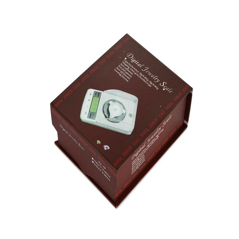 50g 0,001g Cyfrowa waga jubilerska Wysoka precyzja LCD Milligram Gram - Przyrządy pomiarowe - Zdjęcie 6