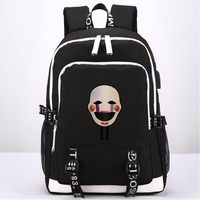 New Game Five Nights at Freddy's Backpack School Bags External USB Charge Headset port Anime Laptop Travel Shoulder Bags