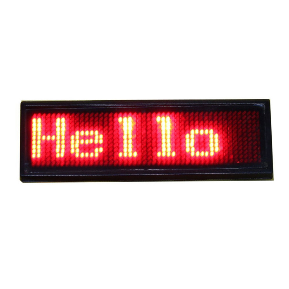 5pcs 11 x 44 pixels Red Color LED Name Badge Programmable Message Sign Board Support Arabic etc Multinational language5pcs 11 x 44 pixels Red Color LED Name Badge Programmable Message Sign Board Support Arabic etc Multinational language