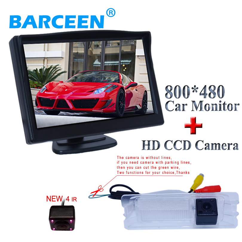 car rear view camera use 5 car parking monitor display use for Nissan March for Renault Logan for Renault Sandero