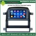 6.2 дюймов Android Емкостной Сенсорный Экран Автомобиля Медиа-Плеер для Chevrolet Captiva 2008-2011 Навигации GPS Bluetooth Видео плеер