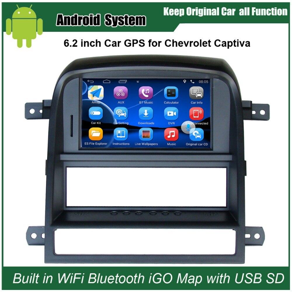 6.2 polegada Android 7.1 Media Player Do Carro da Tela de Toque para Chevrolet Captiva 2008-2011 Navegação GPS Bluetooth Video player