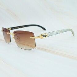 Мужские и женские солнцезащитные очки Carter, прямоугольные солнцезащитные очки с рожками природы