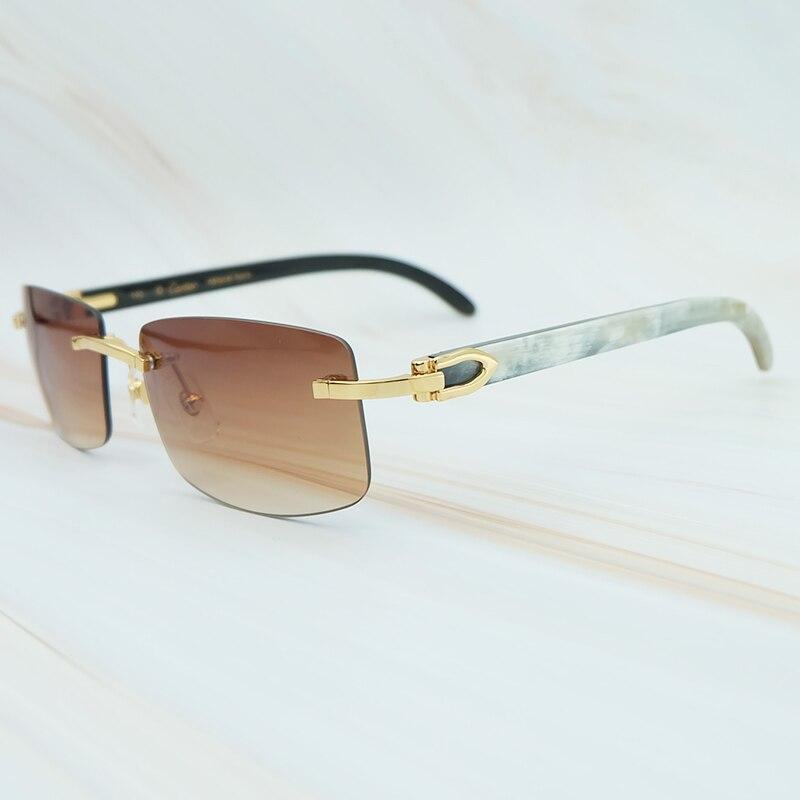 Nature Buffs Horn Sunglasses Men New Trend Fashion Rectangle Women Sun Glasses Beach Driving Shade Luxury Carter Sunglass