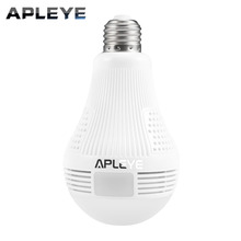 APLEYE 1.3MP WIFI IP Camera E27 LED Bulb Lamp Panoramic FishEye Wireless Camera Two-way audio CCTV Home Security Mini P2P Camara