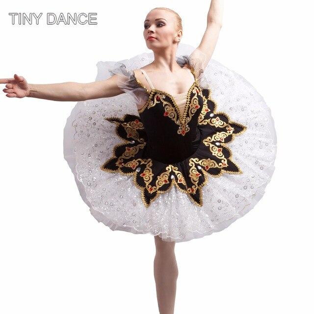 b723eeb3 Adulto profesional Ballet Tutu danza bailarina trajes negro Tutu vestido  Stage Show Ballet Tutus B17042